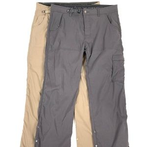 LOT OF 2 - PrAna Roll-Up Outdoor Hiking Pants